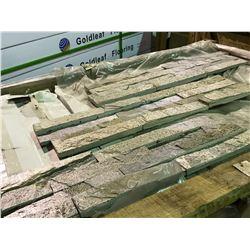 CRATE OF LEDGESTONE INTERLOCK ZERA LEDGER 6X24 SILVER HORIZONTAL WALL STONE