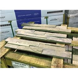 CRATE OF CALIFORNIA GOLD 6X24 LEDGER SLATE WALL STONE