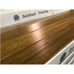 GOLDLEAF HAND SCRAPED HSWO2L STRANDWOVEN LOCKING BAMBOO SOLID HARDWOOD FLOORING
