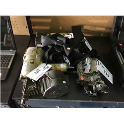 HITACHI FRAME NAILER WITH NAILS, CAR PART & RACING SEAT BELTS