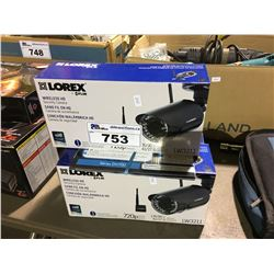 4 LOREX BY FLAIR LW3211 WIRELESS HD SECURITY CAMERAS