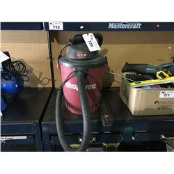 WET/DRY SHOP VAC, VICE GRIP, 4 STANLEY TOOL CASES & BOX OF ASSORTED POWER TOOLS