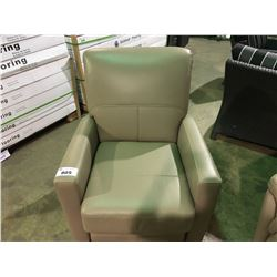 AMAX  LATTE LEATHER MANUAL RECLINING ARM CHAIR