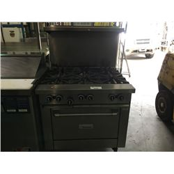 GARLAND STAINLESS STEEL 6 BURNER COMMERCIAL GAS OVEN