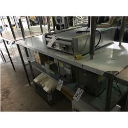 "STAINLESS STEEL COMMERCIAL 72"" X 30"" X 44"" PREPARATION TABLE"