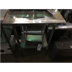 "STAINLESS STEEL COMMERCIAL 30"" X 30"" X 44"" PREPARATION TABLE"