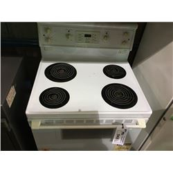 WHITE CONCEPT 2 ELECTRIC STOVE & GENERAL WHITE UPRIGHT FREEZER