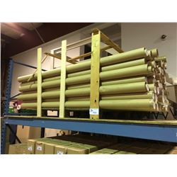 PALLET OF CARDBOARD MOULDING TRANSPORT TUBES