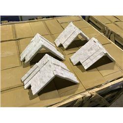 CRATE OF LEDGESTONE QAWZCECOR SANDSTONE WHITE CORNER WALL STONE