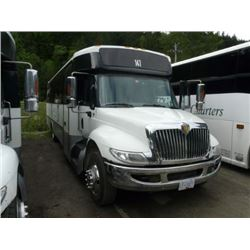 2011 INTERNATIONAL BODY STYLE NON-SCHEDULED BUS 25 PASSENGER TOUR BUS W/AUTOMATIC