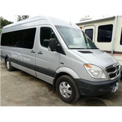 2008 DODGE MODEL SPRINTER 2500 BODY STYLE NON-SCHEDULED GREY 10 SEAT CAPACITY TOUR BUS