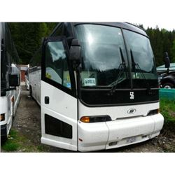 1999 MCI WHITE BODY STYLE NON-SCHEDULED 56 PASSENGER TOUR BUS W/AUTOMATIC, ALLISON TRASMISSION