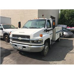 2008 CHEVROLET C4500, MECHANICS TRUCK, WHITE, DIESEL, AUTOMATIC, VIN#1GBE4C1968F402661, 104,893KMS,