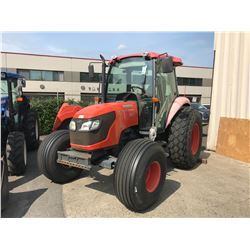 2007 KUBOTA M7040D, ORANGE, DIESEL, MANUAL, VIN#55434, 9,176 HOURS, RD,CD,4W,AC, 3PT PTO WITH QUICK