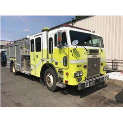 1997 FREIGHTLINER, YELLOW, FIRE PUMPER TRUCK, DIESEL, AUTOMATIC, VIN#1FV64PYB5VL668111, 255,686KMS,