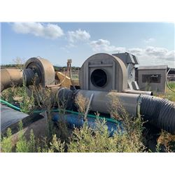 2 SKID MOUNTED 300HP 1788RPM 2 FAN BLOWER SYSTEMS WITH ELECTRICAL