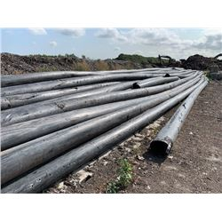 """LARGE QTY OF HD IRRIGATION PIPE WITH 1"""" WALL (VIEW PICTURE)"""