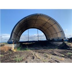 QUONSET HUT SHELTER APPROX. 40'X40' BLOCKS NOT INCLUDED (LOCATED AT 7028 YORK RD. RICHMOND)