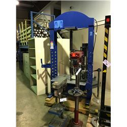 BLUE LARGE SCALE HEAVY DUTY HYDRAULIC PRESS SYSTEM WITH TOOLING
