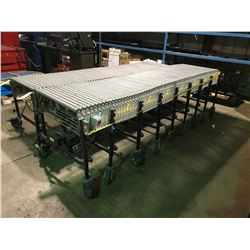 BEST FLEX EXPANDABLE MOBILE POWERED CONVEYOR SYSTEM WITH VARIABLE SPEED REVERSIBLE ELECTRIC DRIVE