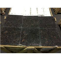"GRAIN TAN BROWN 12""X12"" POLISHED GRANITE TILE FLOORING"