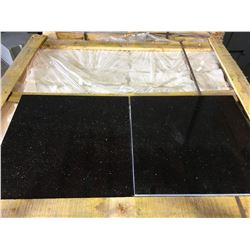 "BLACK GALAXY 18""X18"" POLISHED GRANITE TILE FLOORING"