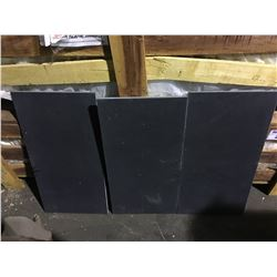"ABSOLUTE BLACK HONED 24""X12"" NATURAL GRANITE TILE FLOORING"