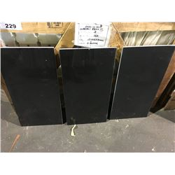 "ABSOLUTE BLACK POLISHED 24""X12"" GRANITE TILE FLOORING"