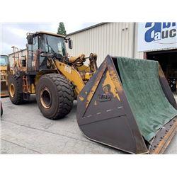 2012 CAT 972H FRONT WHEEL LOADER, YELLOW, DIESEL, VIN#CAT0972HCGTA00380, 5001 HOURS, RD,CD,AC, REAR