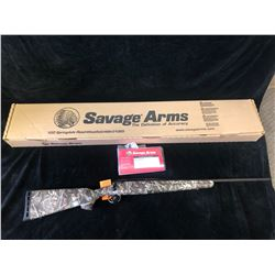 SAVAGE AXIS DEER CAMO BLUED 223 REM RIFLE, SERIAL# J175992 - PAL REQUIRED