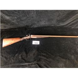 J CONNER & SON DRIFFIELD DOUBLE BARREL 12G SHOTGUN WITH DAMASCUS BARREL - PAL REQUIRED