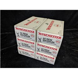 6 CARTONS OF WINCHESTER .44 REM MAGNUM AMMUNITION (300 CARTRIDGES) - PAL REQUIRED