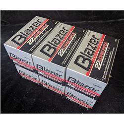 6 CARTONS OF BLAZER .22 LONG RIFLE AMMUNITION (3000 CARTRIDGES) - PAL REQUIRED