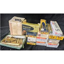 LOT OF ASSORTED AMMUNITION INCLUDING .44-40, .38-40, .22, .45 COLT, 12 GAUGE AND MORE - PAL REQUIRED