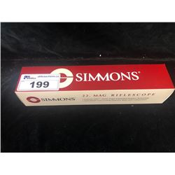 SIMMONS .22 MAG 3-9X32 SILVER RIFLE SCOPE WITH RINGS
