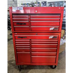 "60"" WIDE SNAP-ON MOBILE 21-DRAWER LOCKING TOOL STORAGE (WITH KEYS)"