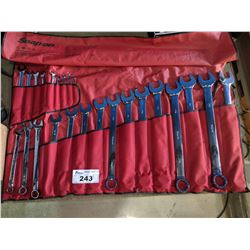 "SNAP-ON 24PC 12-POINT SAE FLANK DRIVE STANDARD COMBINATION WRENCH SET (1/4-1 5/8"")"