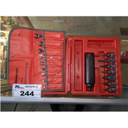 """SNAP-ON 9PC 6-POINT SAE FLANK DRIVE MIDGET COMBINATION WRENCH SET AND 8PC 3/8"""" DRIVE IMPACT DRIVER"""