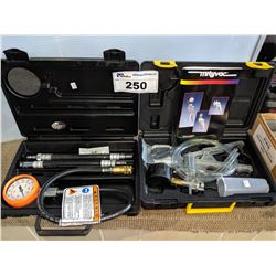 SNAP-ON COMPRESSION GAUGE SET AND MITYVAC