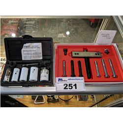 SNAP-ON 6PC HOLE SAW SET AND PULLEY & GEAR PULLER SET