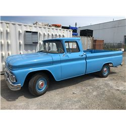 1963 BLUE GMC PICK UP TRUCK, BLUE, GAS, VIN#3C91534604088A, 60396M (TRUE MILEAGE UNKNOWN, 5