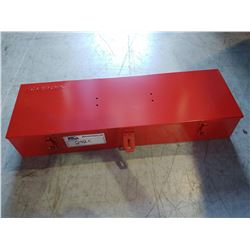 """RED SNAP-ON METAL TOOLBOX (23 X 4 X 7.5"""")"""