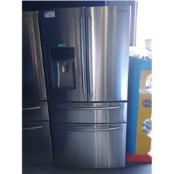 SAMSUNG STAINLESS STEEL FRENCH DOOR FRIDGE/FREEZER WITH COOLING DRAWER AND WATER & ICE