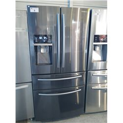 SAMSUNG DARK GREY FRENCH DOOR FRIDGE/FREEZER WITH COOLING DRAWER AND WATER & ICE