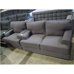 GREY LOVESEAT AND CHAIR SET