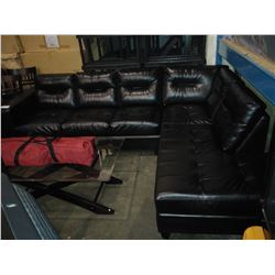 2 PIECE BLACK SECTIONAL