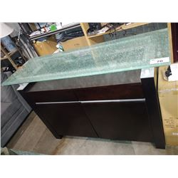 CRACKLE GLASS-TOP SIDEBOARD