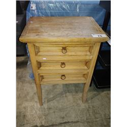 WOOD 3-DRAWER TABLE