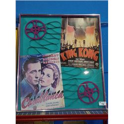 LARGE CLASSIC FILM POSTER DISPLAY INCLUDING CASABLANCA AND KING KONG