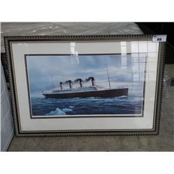 "FRAMED LIMITED EDITION 297/690 PRINT ""THE LAST FAREWELL"" SIGNED BY K. I. CAMPBELL"